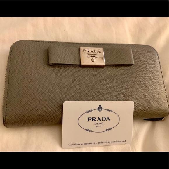 4dfa7d2a74fb Prada Bags | Saffiano Fiocco Gray | Poshmark